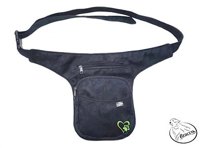 Bracco Bokovka, taška kolem pasu, nebo ramen - zelená, srdce s tlapkou
