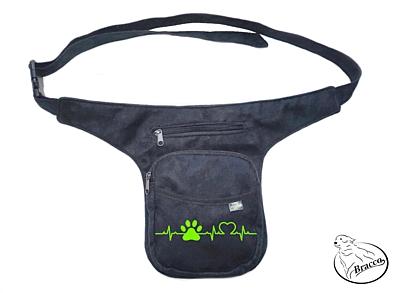 Bracco Bokovka, taška kolem pasu, nebo ramen - zelená, SINUS tlapka a srdce