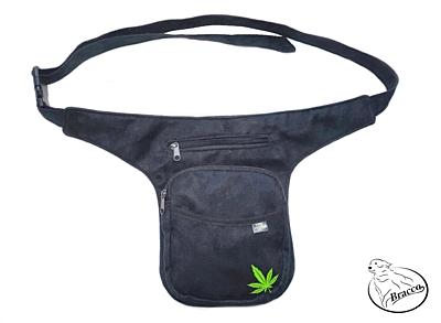 Bracco Bokovka, taška kolem pasu, nebo ramen - zelená, konopný lístek