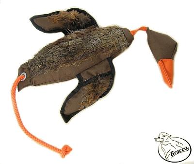 Bracco Profi Duck Dummy s peřím, plovoucí 250 g- 1000 g.