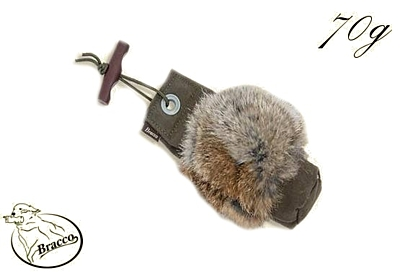 Bracco Rabbit Dummy with fur- weight 70 g, 80 g,  150 g, 250 g, 500 g, 1000 g