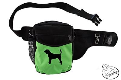 Bracco výcvikový opasek Multi, černá/zelená Beagle