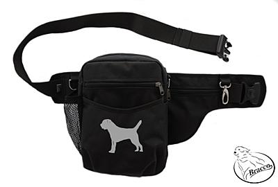 Bracco dog training belt Multi, black Border Terrier