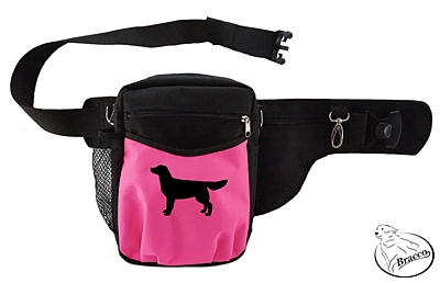 Bracco Trainingsgürtel Hund Multi, Schwarz/pink - Golden Retriever 1