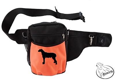 Bracco výcvikový opasek Multi, černá/oranžová Irish Wolfhound