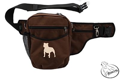 Bracco výcvikový opasek Multi, hnědý Staffordshire Bull Terrier