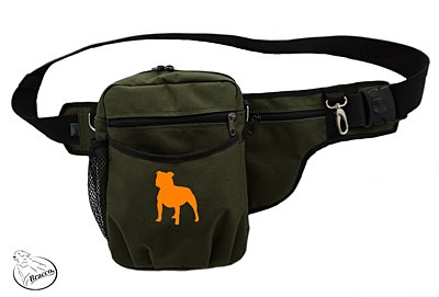 Bracco dog training belt Multi, khaki Staffordshire Bull Terrier