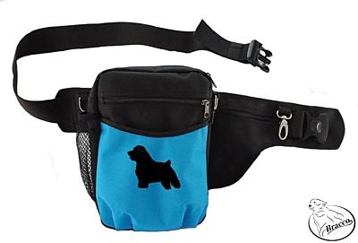 Bracco výcvikový opasek Multi, černá/modrá Norfolk Terrier