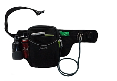 Bracco dog training belt Multi, black Český Fousek