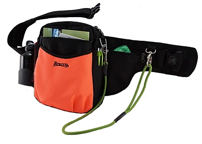 Bracco Trainingsgürtel Hund Multi, Schwarz/Orange