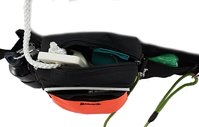 Bracco dog training belt Multi, black/orange