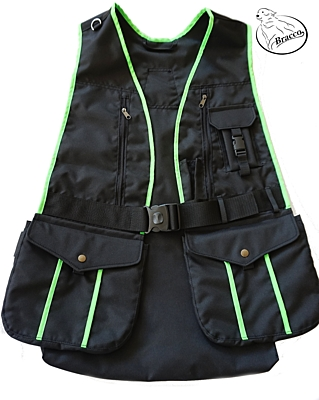 Bracco Dogsport Vest, black/green -different sizes.