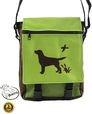 Bracco Bag with dog embroidery, size S - different colors and types.