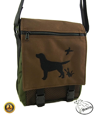 Bracco Bag with dog embroidery, size L - different colors and types.