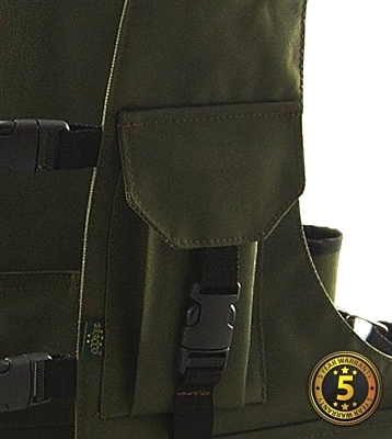 Bracco Dummy Vesta Profi Comfort khaki polyamid, různé velikosti.