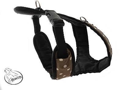 BRACCO dog harness ACTIVE, dark beige / spot - various sizes.