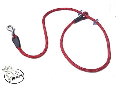 Bracco VARIABLE dog leash 8.0mm, part to dog 2x rubber stop 125cm- various colours