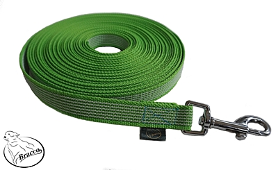 Bracco check cords with anti-slip, different lengths and types, green.