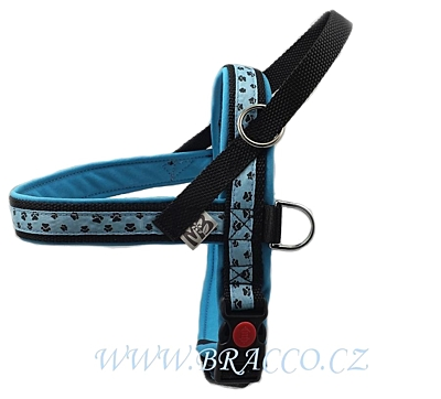 Bracco Norwegian harness, light blue - different sizes.
